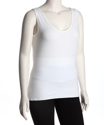 White Secret Shaper Tank