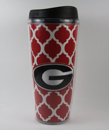 Georgia Quatrefoil Travel Mug