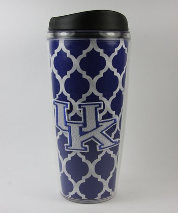 Blue Quatrefoil Kentucky 18-Oz. Travel Mug