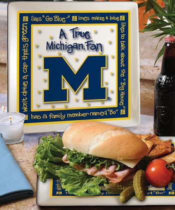 Michigan True Fan Square Plate