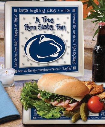 Penn State True Fan Square Plate