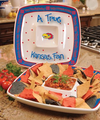 Kansas True Fan Chip 'n' Dip Square Plate
