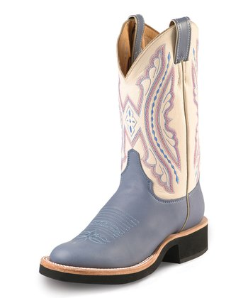 Indigo & Pink Ranch Boot - Women