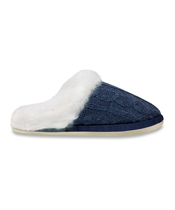 Blue & White Slipper