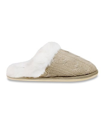 Tan & White Slipper