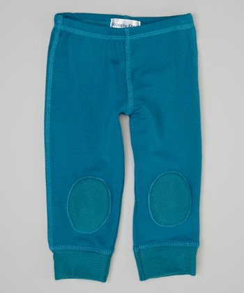 Turquoise Squeaker Leggings - Infant