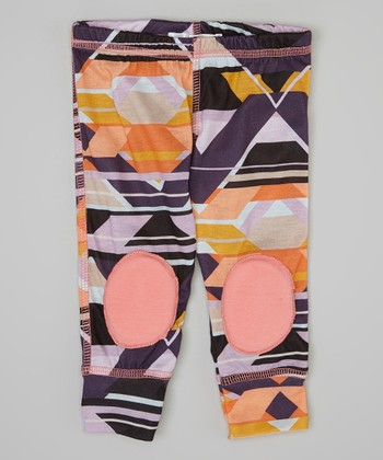 Black & Pink Tribal Squeaker Leggings - Infant