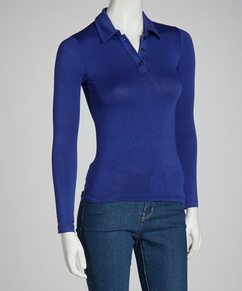 Royal Blue Polo Pullover