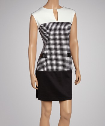 Black & White Houndstooth Dress