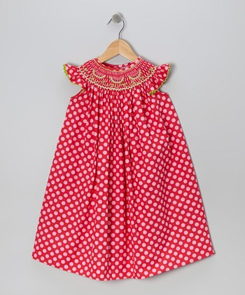 Red Polka Dot Watermelon Dress - Infant, Toddler & Girls