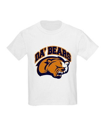 White 'Da' Bears' Tee - Kids