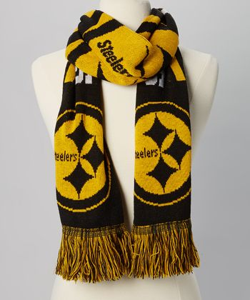 Pittsburgh Steelers Stripe Fringe Scarf