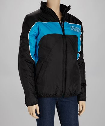 Blue & Black Carolina Panthers Reversible Jacket - Women