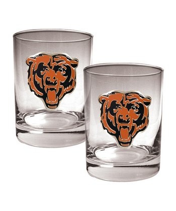Chicago Bears Rocks Glass - Set of Two