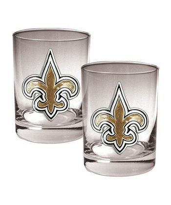 New Orleans Saints Rocks Glass - Set of Two