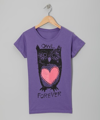 Purple Owl 'Forever' Heart Tee