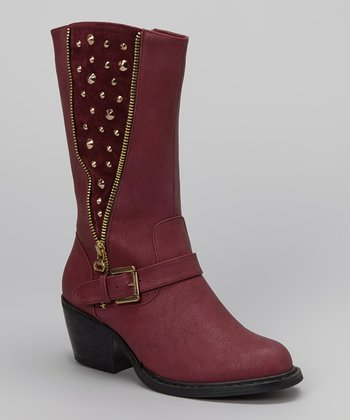 Burgundy Bernardo Boot