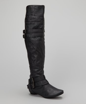 Black Pacific Over-the-Knee Boot