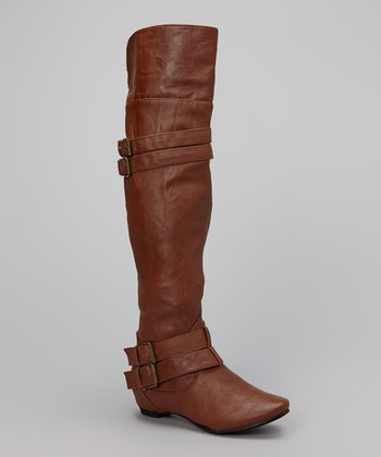 Cognac Pacific Over-the-Knee Boot