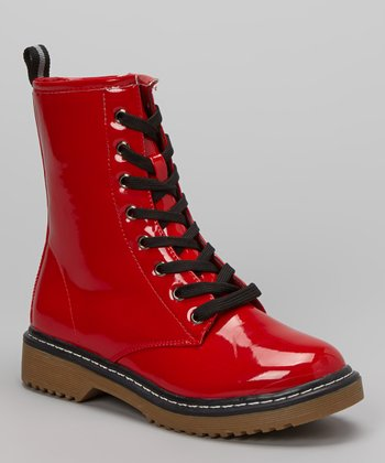 Red Patent Pensky Boot