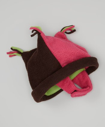 Power Red & Green Fleece Jester Beanie