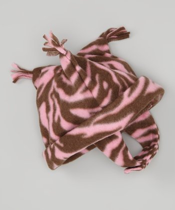 Zebra Diva Fleece Jester Hat