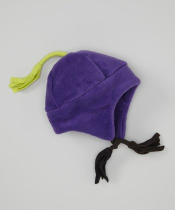 Purple Fleece Earflap Beanie