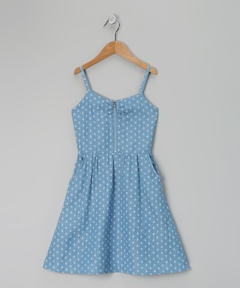 Blue & Cream Anchor Denim Dress