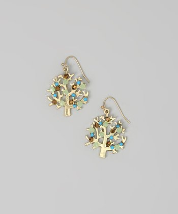 Mint Tree Earrings