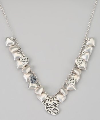 Silver 'I Love To Love' Necklace