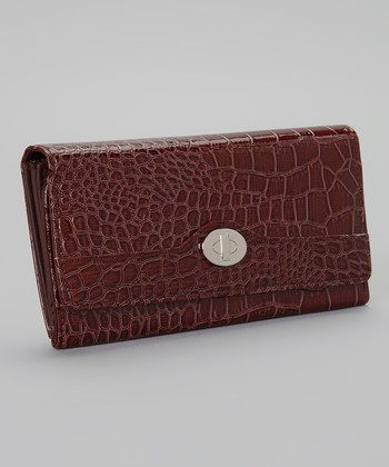 Brown Crocodile File Master Wallet