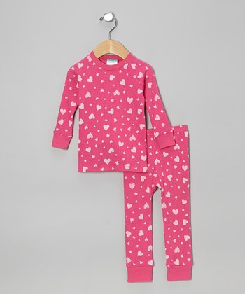 Pink Hearts Pajama Set - Infant