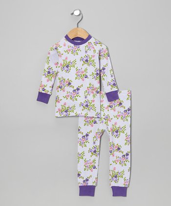 Purple Roses Pajama Set - Infant & Toddler