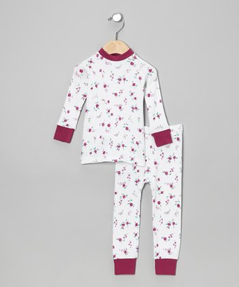 Plum Roses Pajama Set - Infant & Toddler