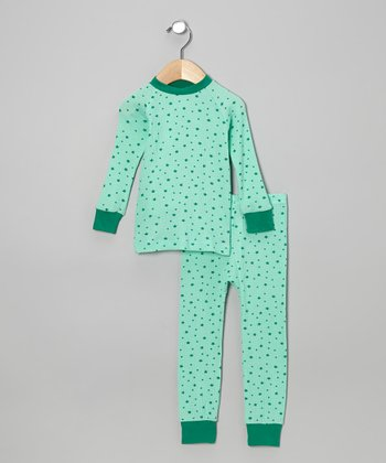Green Stars Pajama Set - Infant