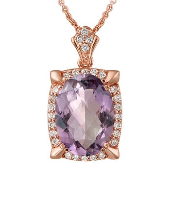Amethyst & Rose Gold Sparkle Pendant Necklace