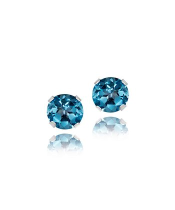 London Blue Topaz & Sterling Silver Stud Earrings