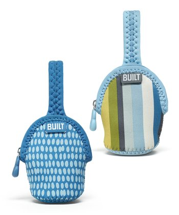 Baby Blue Stripe Double Paci-Finder Holder Set