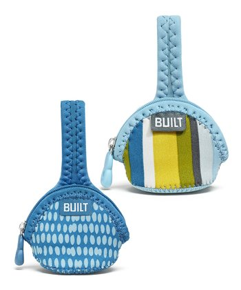 Baby Blue Stripe Single Paci-Finder Holder Set