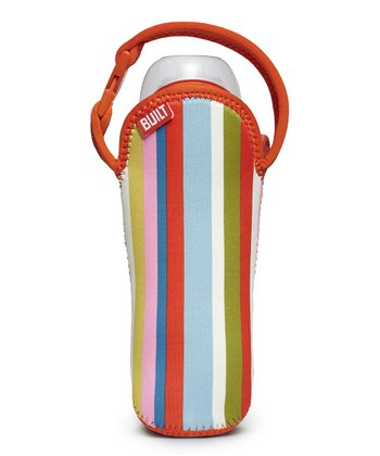 Baby Pink Stripe Bottle Buddy Single Bottle Tote