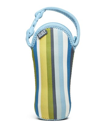 Baby Blue Stripe Bottle Buddy Single Bottle Tote