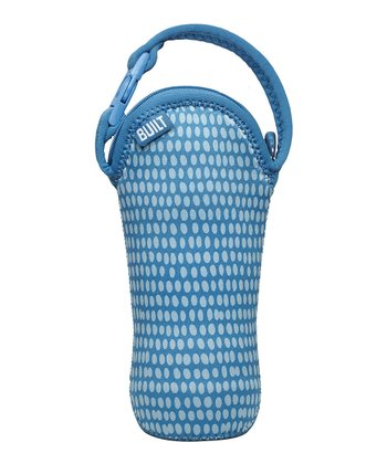 Blue Dribble Dot Bottle Buddy Single Bottle Tote