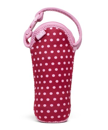 Baby Pink Dot Bottle Buddy Single Bottle Tote