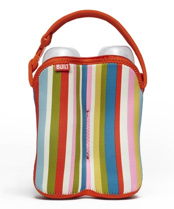 Baby Pink Stripe Bottle Buddy Double Bottle Tote