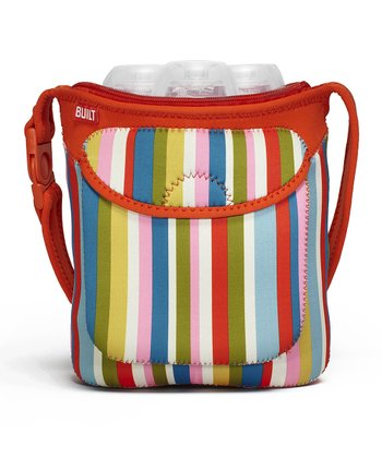 Baby Pink Stripe Bottle Buddy Triple Bottle Tote