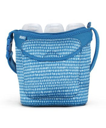 Blue Dribble Dot Bottle Buddy Triple Bottle Tote