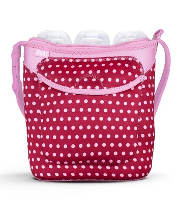 Baby Pink Dot Bottle Buddy Triple Bottle Tote