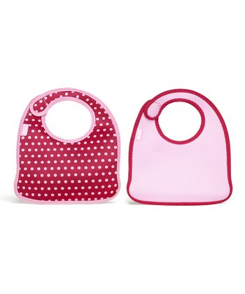 Baby Pink Dot Infant Mess Mate Bib Set