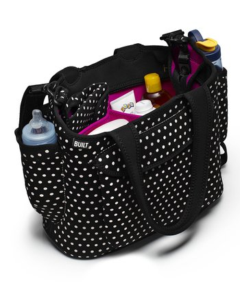 Black & White Mini Dot Go-Go Diaper Tote