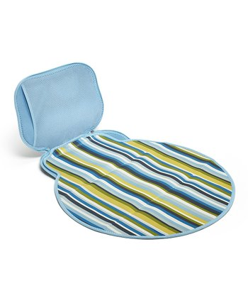 Powder Blue Stripe Diaper Buddy Changing Pad